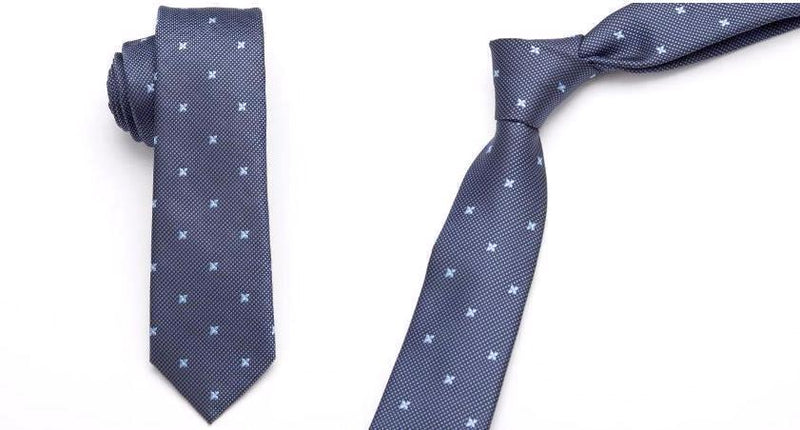 Skinny Business Tie - Blue Diamond