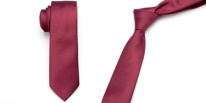 Skinny Business Tie - Red Wine