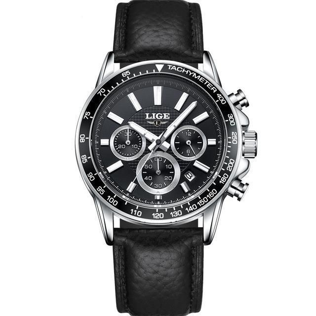 Overtime Watch - Black (Leather)