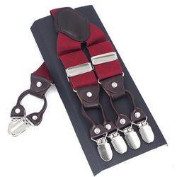 Casanova Suspenders - Ruby Red