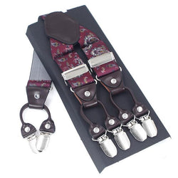 Casanova Suspenders - Mystical Red
