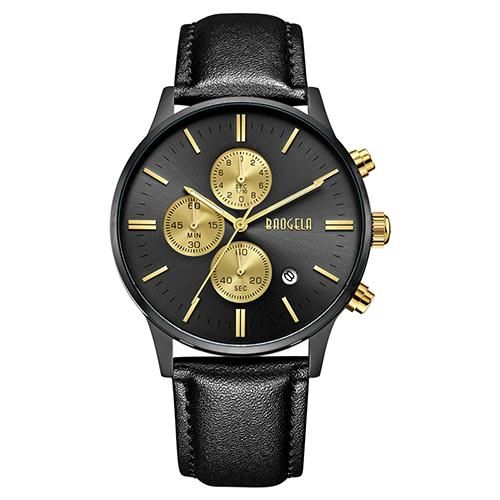 Slava Watch - Black (Leather Strap)