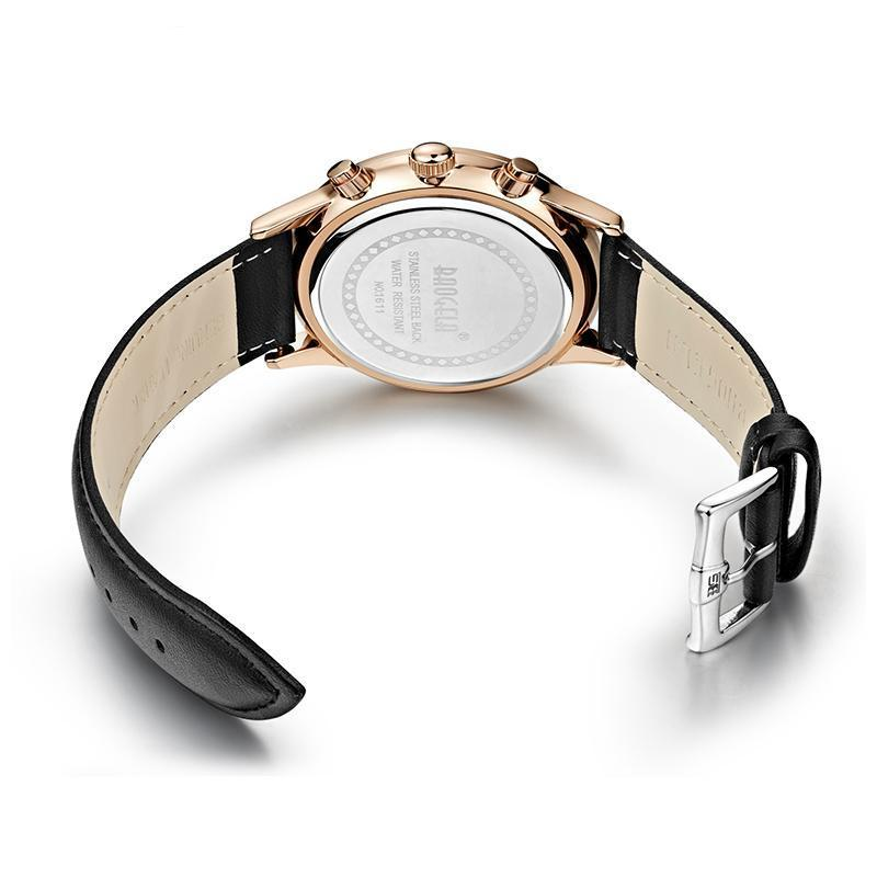 Slava Watch - Rose Gold (Leather Strap)