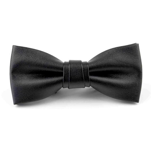Leather Bowtie - Black