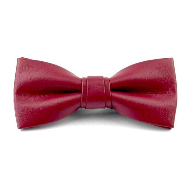 Leather Bowties - Red Wine