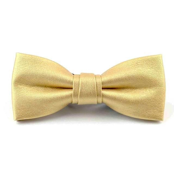 Leather Bowties - Yellow