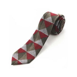 Cashmere Tie - Red Triangles
