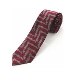 Cashmere Tie - Red Lines