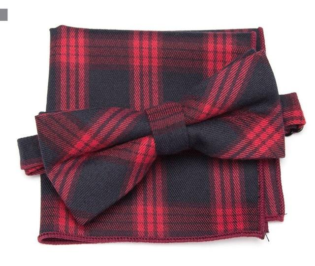 Casual Bowtie & Pocket Square Set