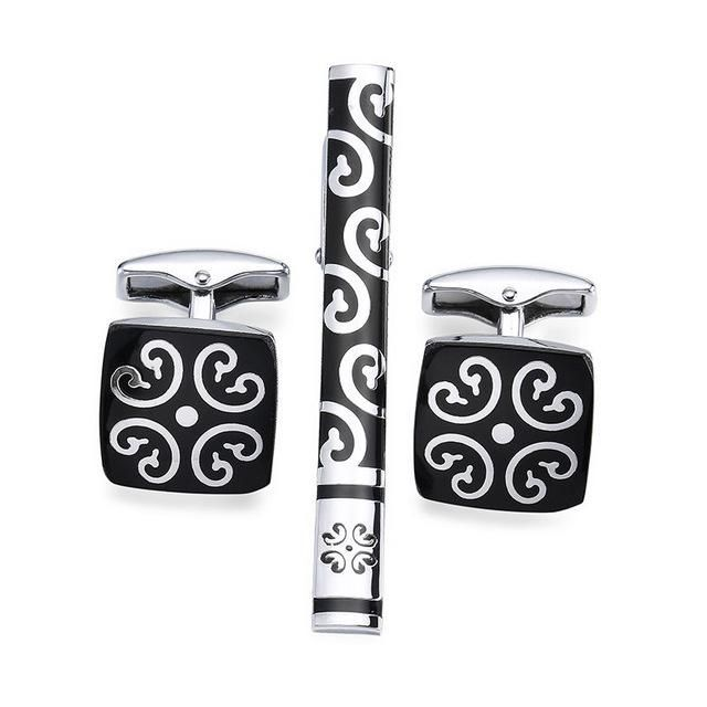 Tie Clip & Cuff Links - Black Royalty