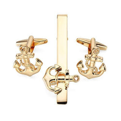 Tie Clip & Cuff Links - Small Gold Anchor