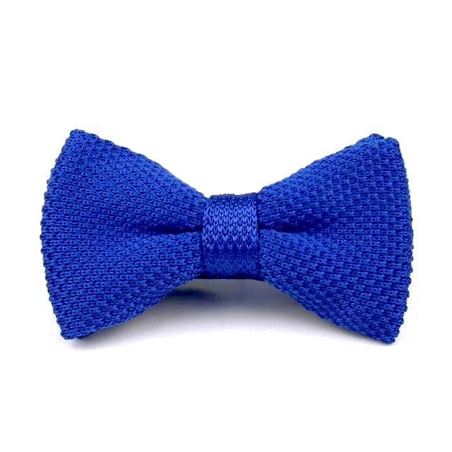 Knitted Bowtie - Blue