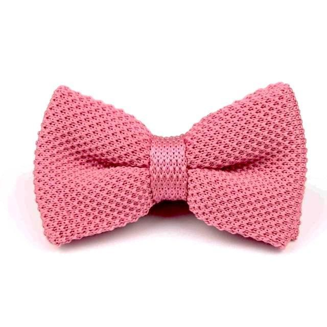 Knitted Bowtie - Salmon