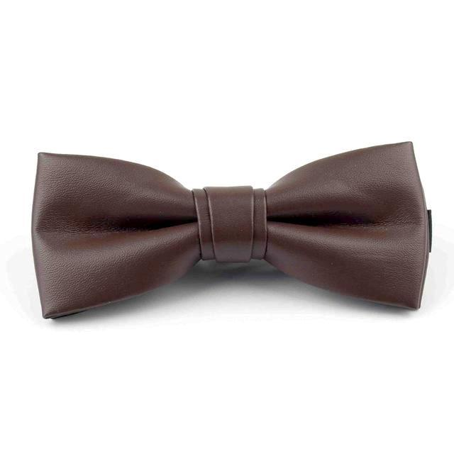 Leather Bowties - Brown