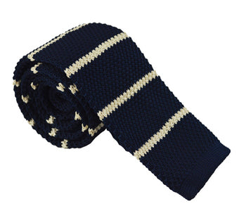 Knit Neckties-Creamy Blue