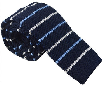 Knit Neckties-Blue Sky