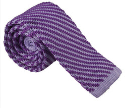 Knit Neckties-Lavender