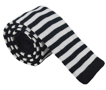 Knit Neckties - Black & White