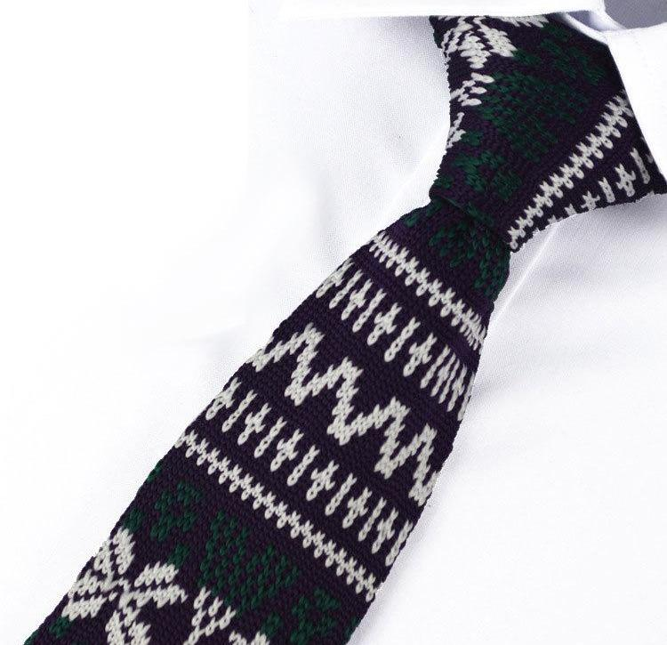 Knit Neckties-Purple