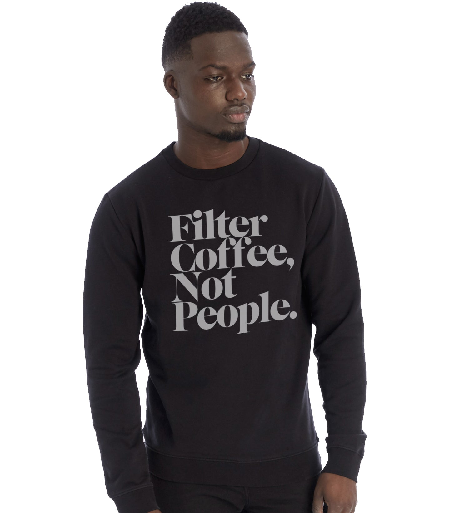 Filter Coffee Not People Pullover Fleece Sweatshirt (Black)