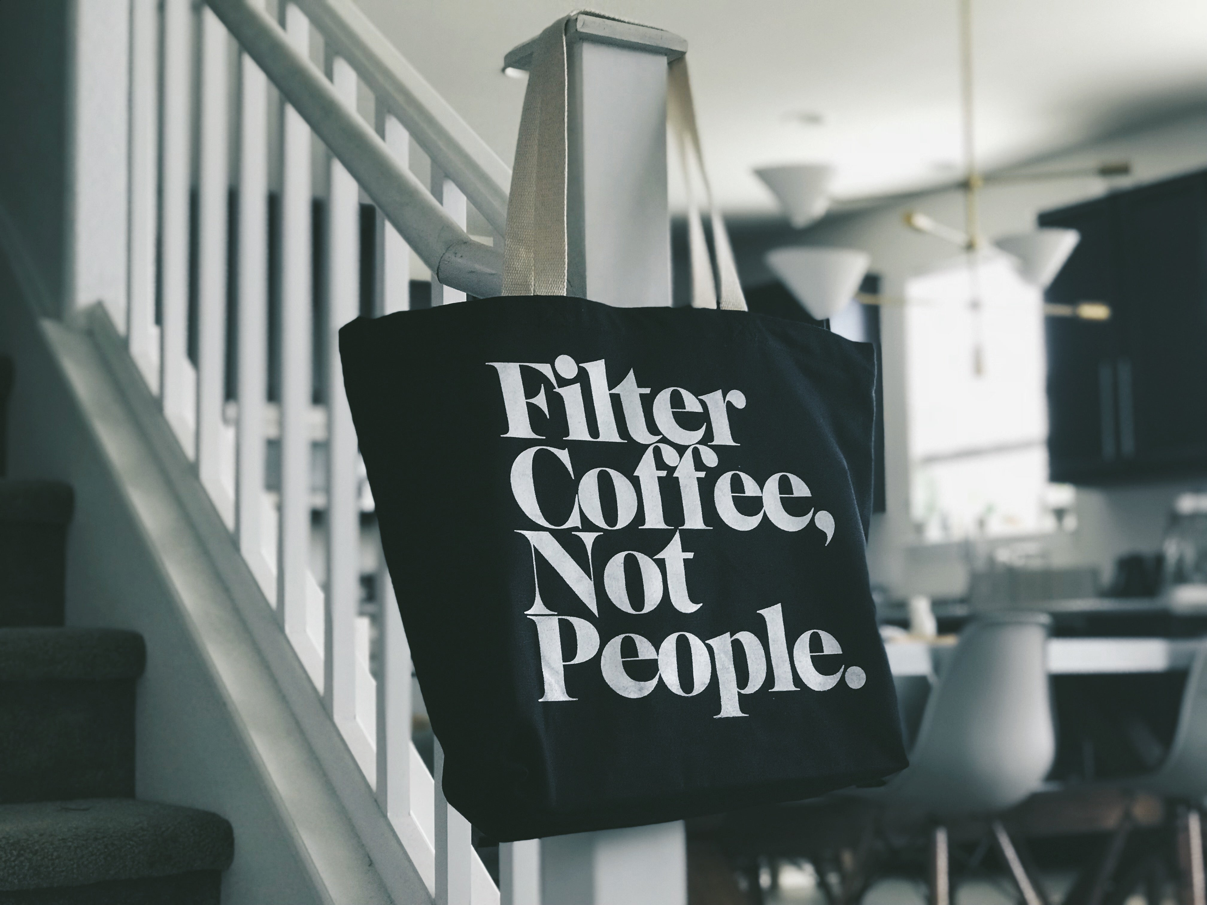 Filter Coffee Not People Tote Bag