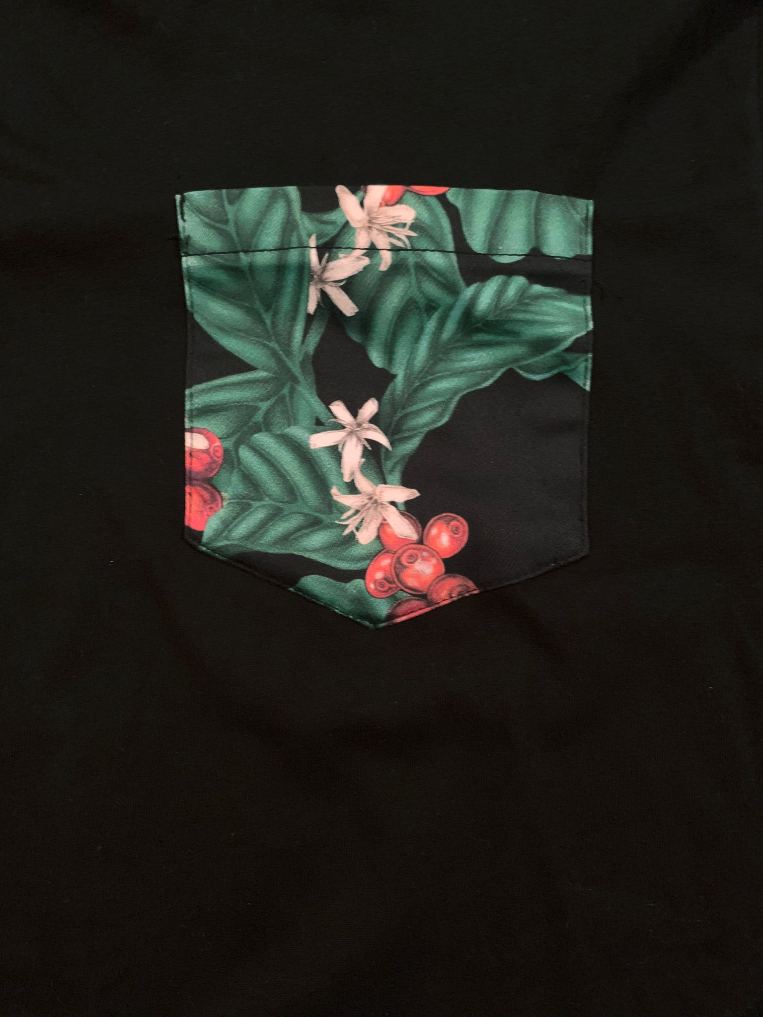 Coffee Blossom Pocket Tee - T-Shirt (Unisex)