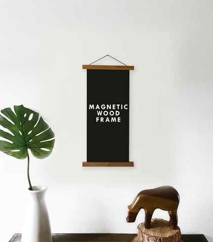 Magnetic Wooden Poster Hanger - SMALL