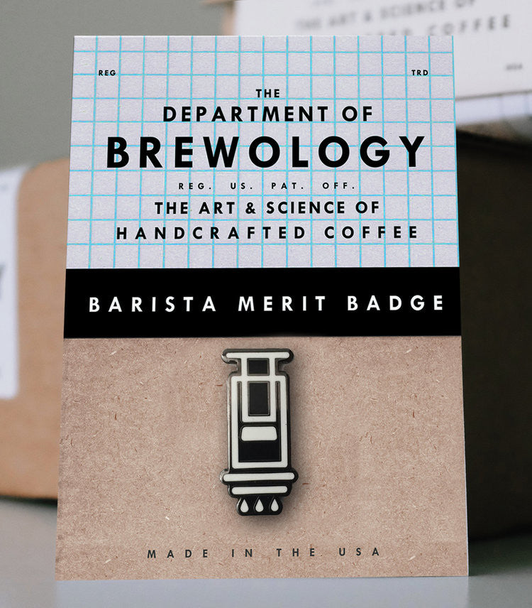 (EUROPE) Barista Merit Badge - Aeropress
