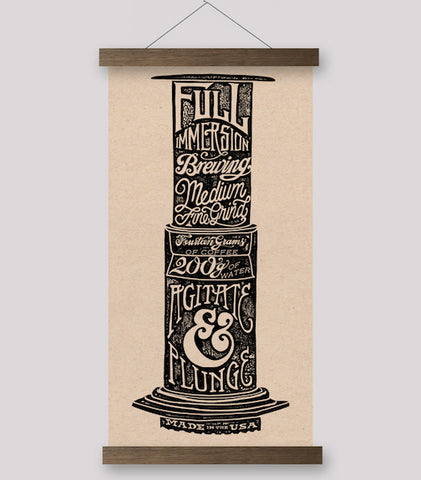 Typographic Series - Aeropress Print