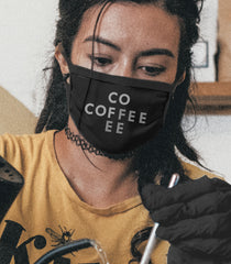 Coffee Face Mask (Black) Cross Pattern