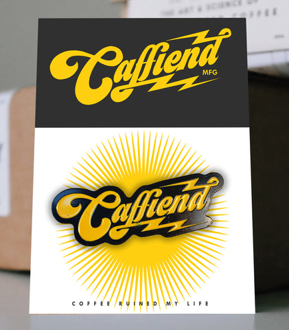 Caffiend - Caffiend Logo Pin