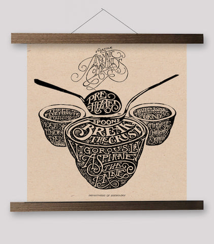 Typographic Series - Cupping Bowls Print