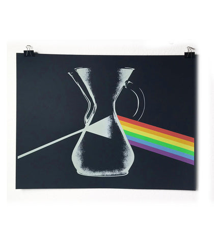 Darkside of The Chemex - Glow in the Dark Screenprint