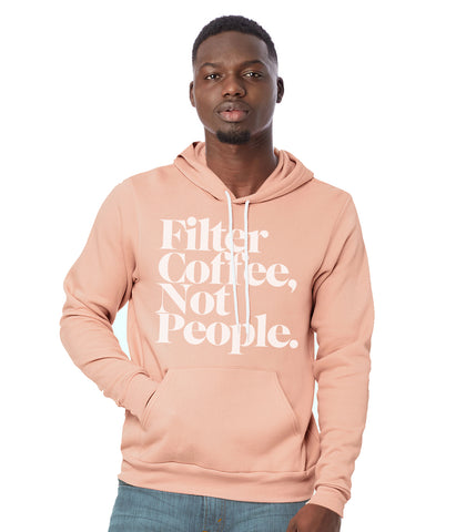 Filter Coffee Not People Pullover Hoodie (Mil-Pink)