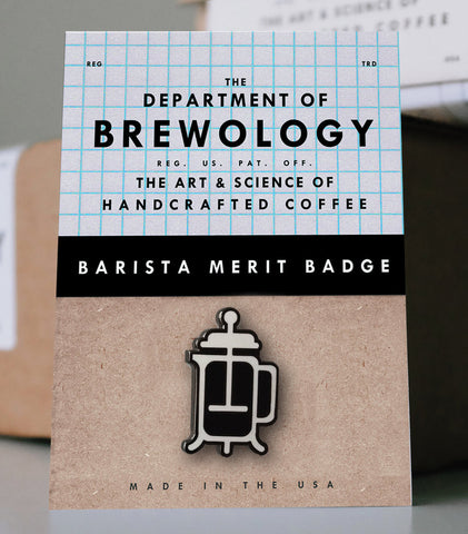 Barista Merit Badge - French Press