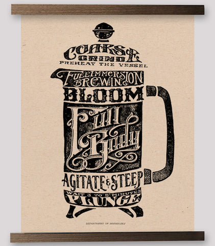 Typographic Series - French Press Print