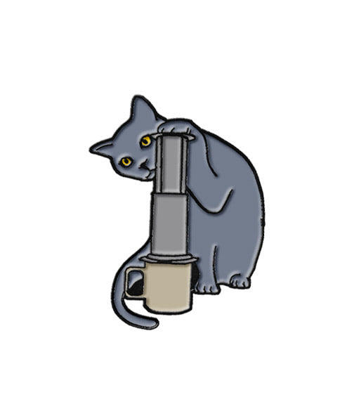 Caffiend - Cat (Claude) with Aeropress