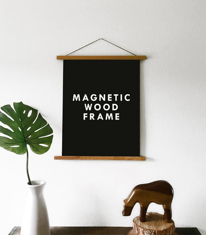 Magnetic Wooden Poster Hanger - LARGE