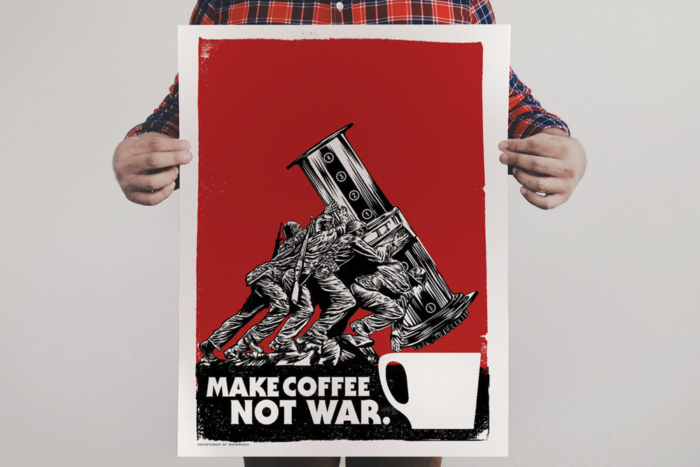 Make Coffee Not War Print