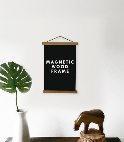 Magnetic Wooden Poster Hanger Frame - MEDIUM