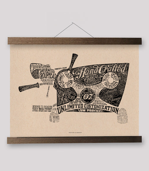 Typographic Series - Slayer Espresso Machine Print