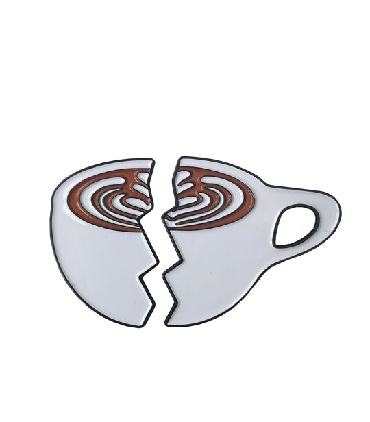 Caffiend - Split Latte pin