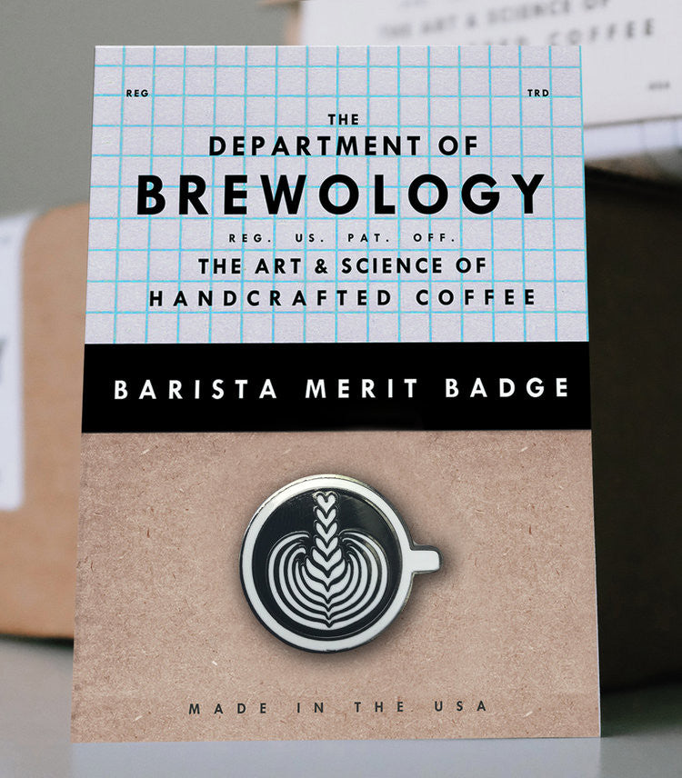 Barista Merit Badge - Stacked Tulip