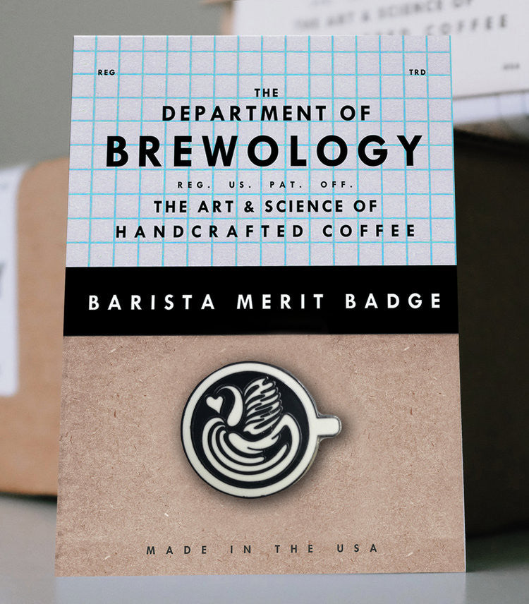 Barista Merit Badge - Swan