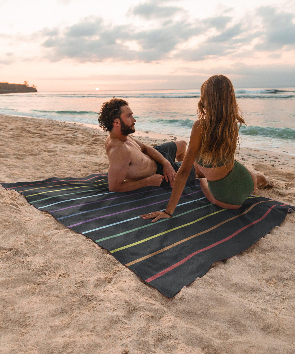 Rainbow Road - Towel for Two-Beach-Towel-Tesalate