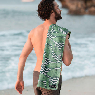 Tesalate - Leaf me alone Beach Towel