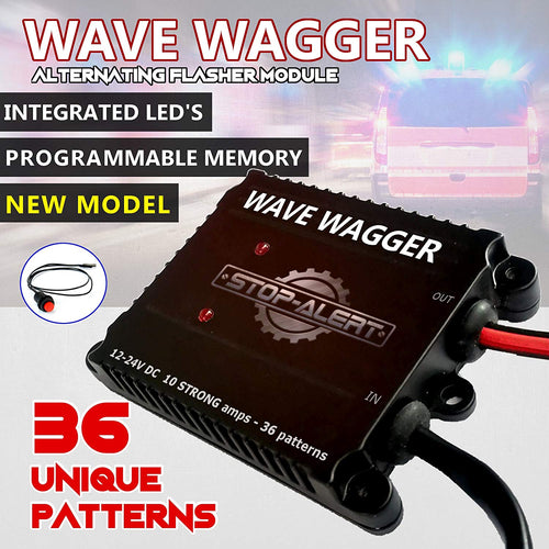 NEW 36 Pattern Wave Wagger HEADLIGHTS 10 AMPS 120 WATTS UPC 7426861744984