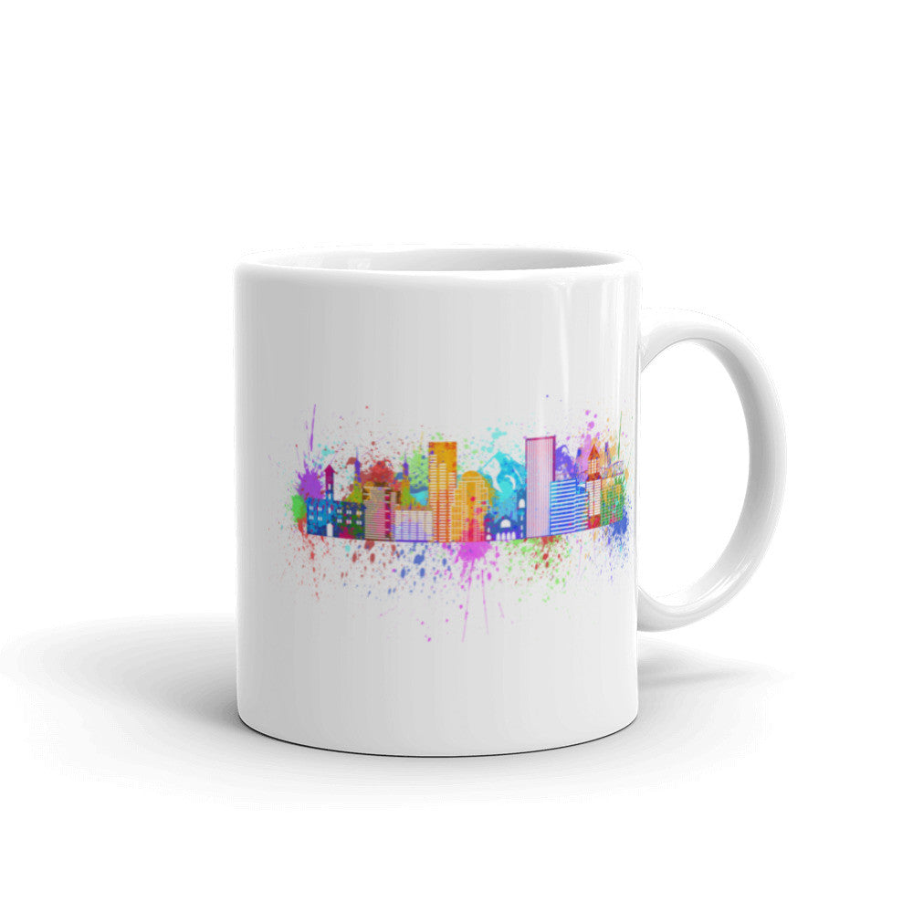 Painted Skyline Mug
