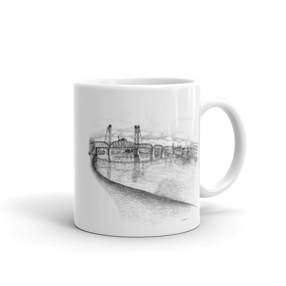 Hawthorne Bridge Sketch Mug