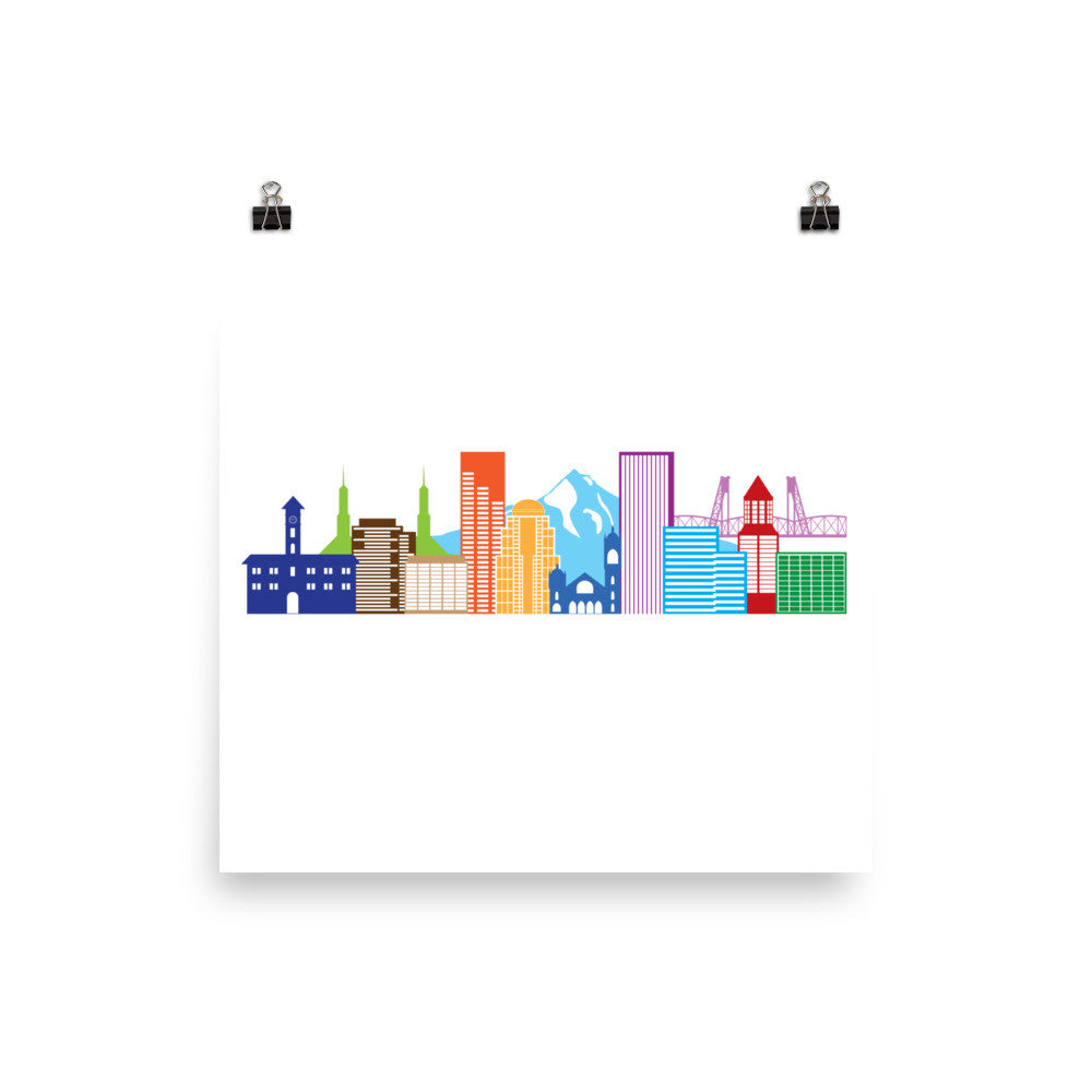 Colorful Skyline Print